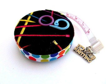 Measuring Tape Neon Knitting Needles Retracttable Tape Measure