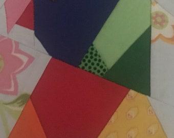 Rainbow Lorikeet Parrot Foundation Paper Piece Pattern