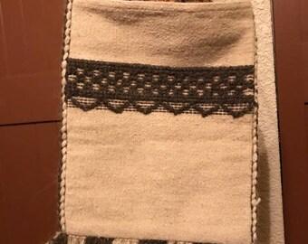 Vintage Southwestern Wool Satchel - Boho, Cowgirl, Folk