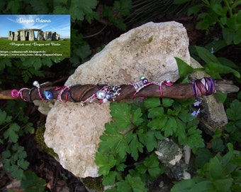 Unicorn Fairy wand-Fae, wicca, spirit of nature, pagan, witch, forest, crystal, druid, priestess, goddess,norse,faerie,