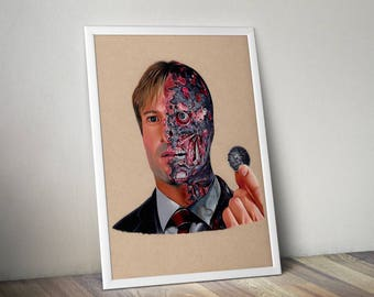 Two Face (Harvey Dent) - Fine Art Print - A4/A3