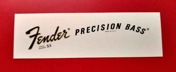 Custom Fender Precision Bass Late 70's Waterslide Decal Two with each order.
