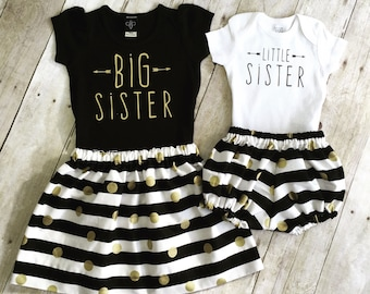 Big Sister Little Sister Outfit / Big Sister Little Sister / Big Sister Shirt /Girls big sis outfit, big sister shirt, little sister shirt