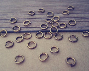 300 pcs antique gold color Jump Rings 5mmx0.9mm