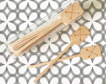 SS03 crossed arrow swizzle stick, set of 15