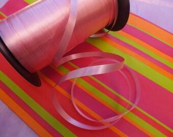Set of 5 M BOLDUC satin color pink 7mm wide