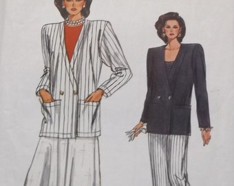 Very Easy Vogue # 9791 Misses Jacket , Skirt and Pants in sizes 14 - 16 -18 Uncut