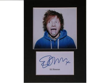 Photo print Ed Sheeran printed signed autograph 8x6 inch mounted display #2