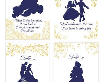 Story Book Quotable Table Numbers | Quotable Table Cards | Birthday Quotable Table Cards