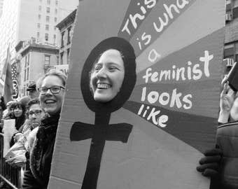 B&W #Photograph, #LGBTQ, #nastywomen, feminist, photo print, photography, wall art, home decor, protest, womens march, resist