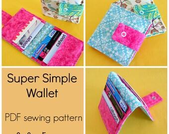 Super Simple Wallet - PDF Sewing Pattern