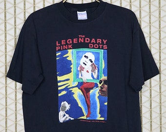 The Legendary Pink Dots vintage rare T-shirt, faded black tee, goth, experimental, post punk, Edward Ka-Spel, The Tear Garden
