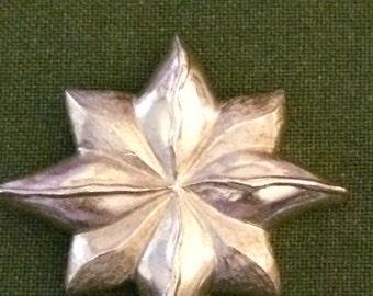 Vintage Star Brooch, Gold Flower Brooch, Star Brooch, Brooches, Vintage Brooches