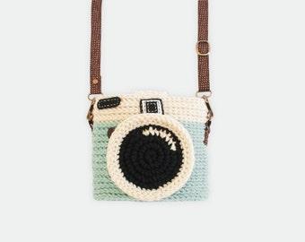 Crochet Case for Fuji Instax Camera - Lomo Camera/ Mint Color