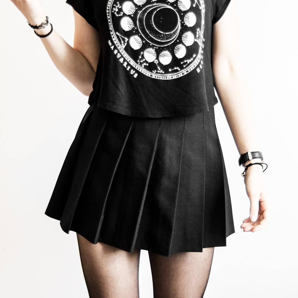 tennis skirt black pleated skirt american apparel grunge