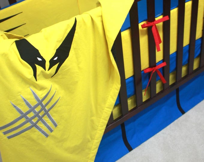 Superhero baby bedding--Wolverine--With Bumpers-MTO