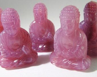 6 Lilac Lavender Buddha Beads Bd01a