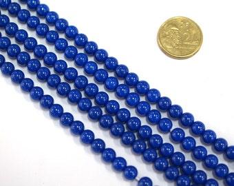 1 x 40cm Opaque Glass Bead Strand x 8mm beads #RV19