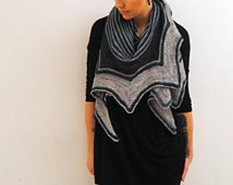 ABAIA Knitting Pattern PDF Fingering Weight Shawl