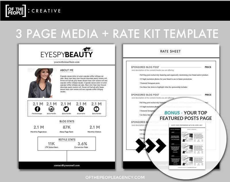 3 page media kit template press kit for bloggers zoom pronofoot35fo Image collections