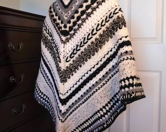 Striped Beaded Shawl
