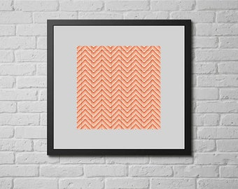 Orange chevron (cross stitch pattern)