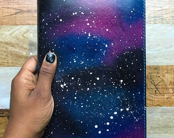 GALAXY A5 NOTEBOOK Cover - Bujo Cover - Leather Notebook Cover - Bullet Journal Sleeve - A5 Bullet Journal - Leather Refillable Notebook