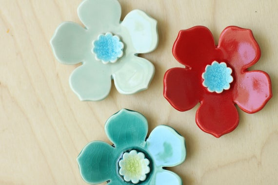 hanging wall flowers, set of 3