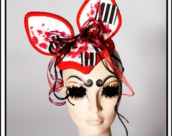 Bloody Creature… Ears with Blood n Patches Headdress
