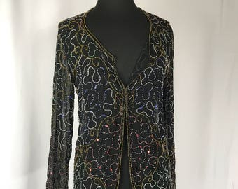 Beaded 80s Blazer by Jkara NY Sz S