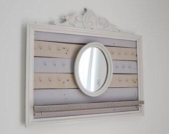 Pallet - wood - jewelry display / Organizer - jewelry storage - jewelry Organization / Support jewelry - gift for her