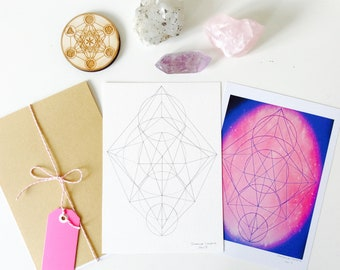 Custom art - personal sacred geometry pattern,  geometric art, energy, cosmic art, healing energy,spiritual art, sacred space, meditation