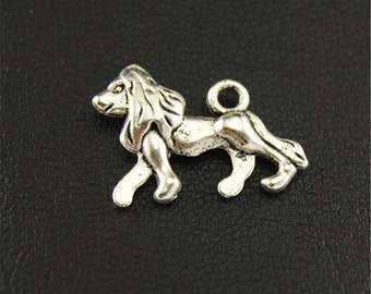 20pcs Antique Silver Lion Charms Pendant A1675