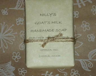 Goat's Milk Soap, Natural SCENTED Goat's Milk Soap, Moisturizing Soap, Handmade - PICK your FAVORITE Scent - Flat Rate Shipping