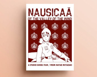 Nausicaa, Miyazaki and Ghibli Art Print, Studio Ghibli Art, Anime Decor, Anime Gifts, Studio Ghibli Gifts