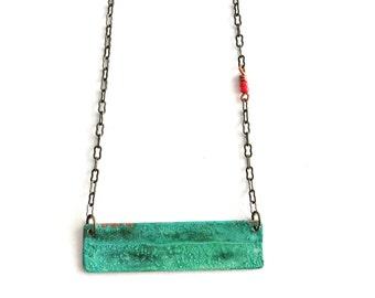 Patina Bar Necklace