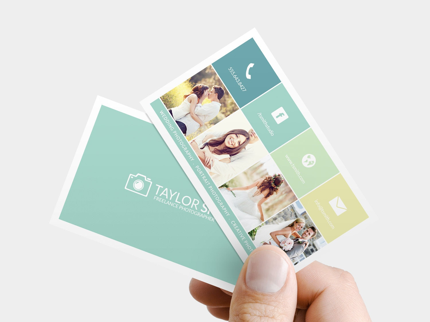 Premade Photography Business Card Custom photographer
