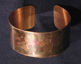 Rainbow copper cuff - Handmade original bracelet - One of a kind