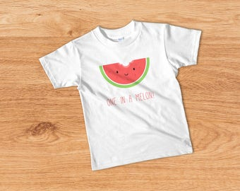 One in a Melon, Funny Kids T-shirt, Cute Kids Clothes, Trendy Toddler Tee, Funny Toddler Outfit, Funny Toddler Boy Shirt, Toddler Girl Top