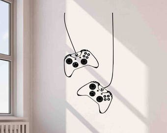 XBox Controllers Wall Decal Video Game Gamepad Joystick Gaming Playroom Vinyl Sticker Home Room Boy Bedroom Decor Poster Art Mural Print 701