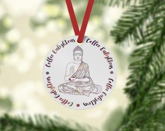 Coffee Enlightens - Ceramic Buddha Ornament