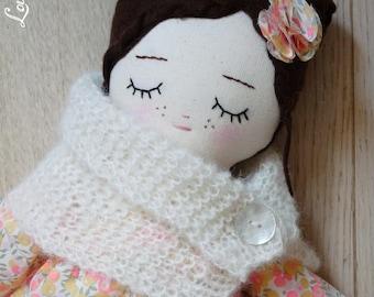 FLORA, 41 cm doll - rag - doll - rag doll doll - handmade doll - cloth doll - fabric doll