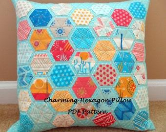 Charming Hexagon Pillow Pattern PDF