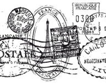 Clear Stamp Texture -Postmarks CS802