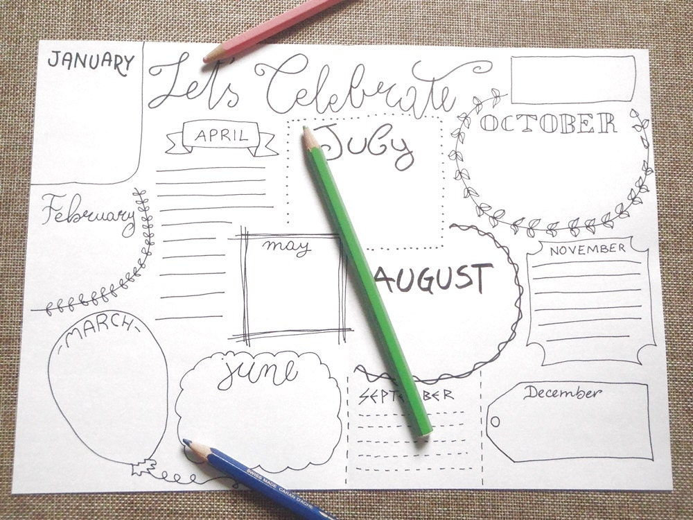 celebrate bullet journal birthday anniversary planner blank