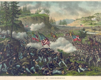 Images of America: The Civil War - The Battle Chickamauga - September 1863 - Fine Art Print Reproduction
