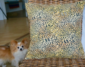 leopard print pillow cover, 18 x 18 inches. Animal print pillow sham, home decor, animal print, home design, sofa pillow cover, Hello Dusty!