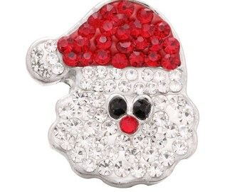 Stunning Santa Claus - Saint Nickolas -  Crystal Interchangeable Winter Themed 18mm Snap - Compatible with GingerSnaps - Magnolia and Vine