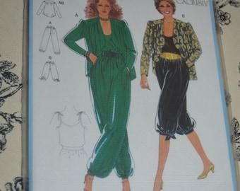 Burda 8128 Misses Jacket Top and Pants Sewing Pattern - UNCUT -  sizes 8 10 12 14 16