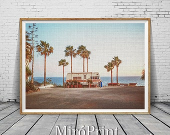 Palm Tree Print, Modern Beach Print, Coastal Art Decor, Camper Photo, Wall Art, Palm Trees Photo, People Scene, Beach Decor, Camper Print